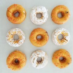 Simple pumpkin donut