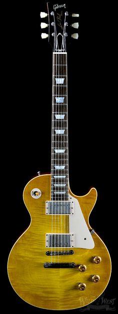 Gibson Custom Shop VOS Les Paul R8 Plain Maple Lemon Burst - Preowned - Wild West Guitars