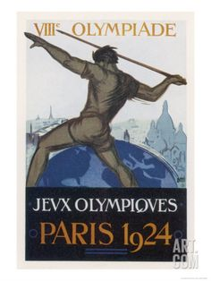 Art.fr - reproduction procédé giclée 'Poster for the Paris Olympiad' par Orsi