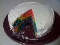 Second Try at  Rainbow Cake done in swirls.