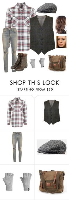 """""""Newsie costume idea"""" by ivoryvixen ❤ liked on Polyvore featuring Topshop, Yves Saint Laurent, Stetson, Icebreaker, women's clothing, women, female, woman, misses and juniors"""