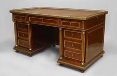 French Louis XVI table desk mahogany