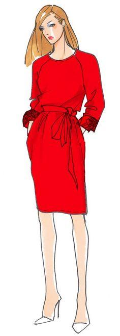 Kleid Ophelia, tolles Raglankleid für jeder Gelegenheit tragbar