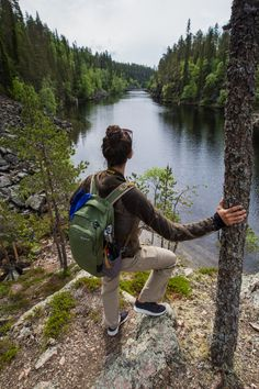 Finland Travel Photography | If you're looking for that ultimate Finland summer experience, we've got the perfect Hossa National Park itinerary to make your trip even better! | Travel Dudes #Finland #FinlandTravel | Finland Travel Summer Finland Summer, Finland Travel, Adventure Aesthetic, The Great Outdoors, Sling Backpack, Travel Tips, Travel Photography, National Parks, Explore