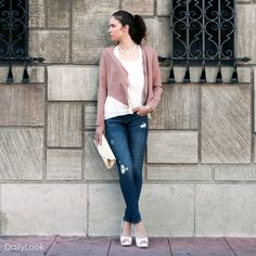 Check out Feminine Dusty Rose Casual Walk Look by Nine Bird and Sace at DailyLook