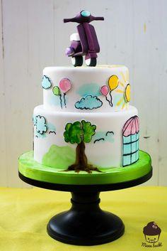 The Sweet Side of Life Cake Vespa Cake Motorcycle Cake Handpainted Cake Birthday Cake