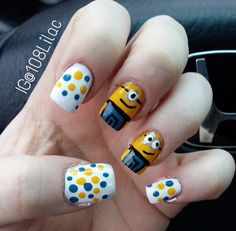 How adorable are these cute minions??! Super fun and easy to do! IG@108Lilac