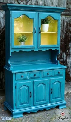 Fabulous china hutch makeover!  betterafter.net                                                                                                                                                                                 More