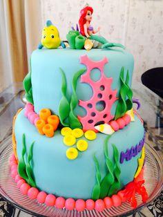 Little Mermaid cake!  - Side of cake!