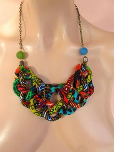 African necklace,  Bib Necklace ,Tribal jewelry, christmass gift, Chinese knot necklace, Etsyitaliateam by nad205 on Etsy https://www.etsy.com/listing/169239268/african-necklace-bib-necklace-tribal