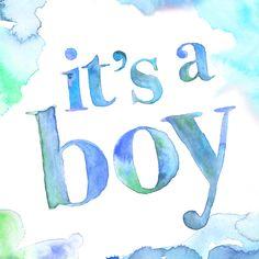 Mooie felicitatiekaart voor een zoon met waterverf, verkrijgbaar bij #kaartje2go voor €1,99
