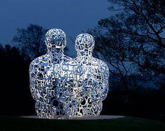 Jaume Plensa, sculpture artist who uses letters from different languages to shape his work