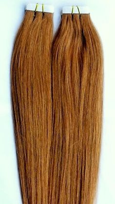 100% Human Tape In Hair Extensions #27 Strawberry Blonde http://shop.hairfauxyou.com/Tape-In-Hair_c105.htm