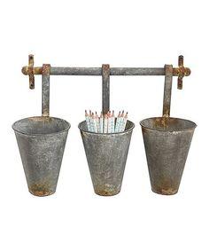 Another great find on #zulily! Tin Pot & Rack Set #zulilyfinds