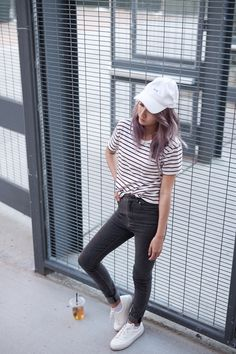 6a1fbd0b414 Back to Basics with Grana. White Baseball Cap OutfitWhite ...