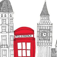 Could you draw London London Illustration, Illustration Art, Big Ben, Paris, Ecole Art, London Art, Illustrations, Art Design, Kitsch