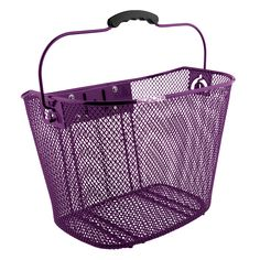 Sunlite Front Mesh QR Basket with Bracket - Purple