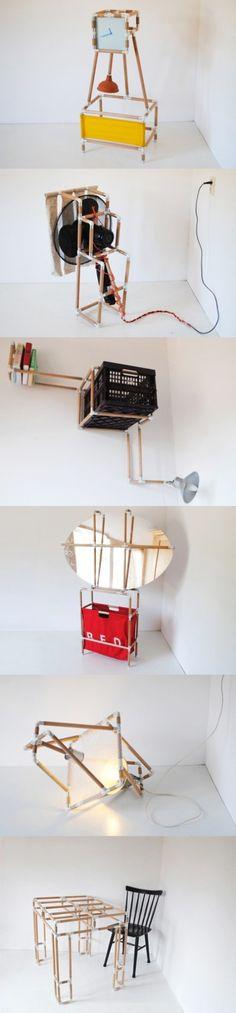 sistema modular muebles muy ingenioso