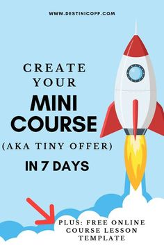 A mini course (aka tiny product or starter course) is something that would be considered a no brainer type offer. I love mini courses because they give you the momentum to get started in your online course business. #onlinecourses #minicourse #tinyoffer #onlinecoursetemplate