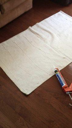 Pistolas de látex podem fazer com que seu tapete pare de escorregar