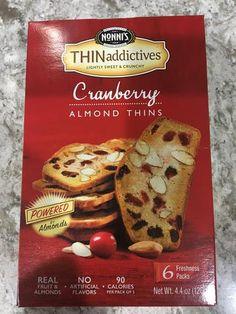 Nonni's THINaddictives Cranberry Almond 4.4oz 100 Calories THIN addictives