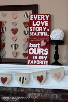 25 DIY Valentine's Day Decorations: V-Day Art Work