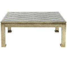 Treviso German Silver Square Coffee Table | 55DowningStreet.com