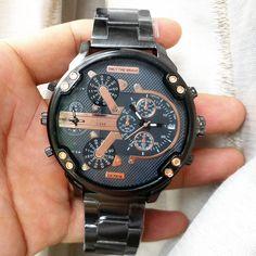 >> Click to Buy << Hot Sale The Latest Watch Men Sports Big Dial 2 Movements Quartz Watch Steel Strap Calendar Clock  #Affiliate