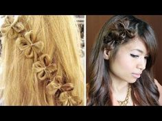 How to: Flower Hair Bow Tutorial  super cute going to try this
