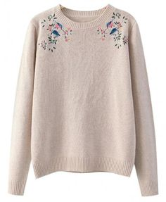 Embroidered Crochet Sweater - Knitwear - Tops - Clothing