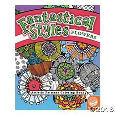 Fantastical Styles: Flowers  The whimsical art and incredibly intricate designs within these books will inspire artists to roll up their sleeves and start coloring! Original line art features mind-boggling patterns and textures; designs appear twice so you can experiment with color. #MindWareToys #FreePrintable #AdultColoring