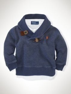 Toggle Shawl Fleece - Infant Boys Tops - RalphLauren.com