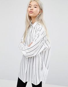 Weekday | Weekday - Chemise oversize à fines rayures