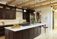 Kitchen Photos Espresso Light Cabinets Floor Design, Pictures, Remodel, Decor and Ideas - page 5