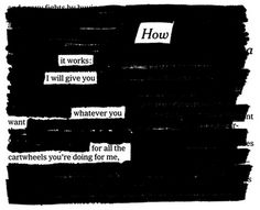 Newspaper Blackout Poems by Austin Kleon: poetry made by taking an article from The New York Times and blacking it out with a Sharpie marker, leaving only a few choice words behind.