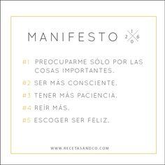Manifesto Año Nuevo 2016 | Recetas and co. (www.recetasandco.com)