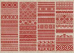 Decorative Borders - 50 Original Cross-Stitch Designs - PDF Booklet. $15.00, via Etsy.