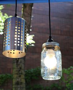 DIY Ikea LED hanging lamps
