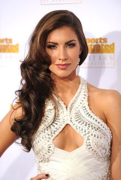 Model Katherine Webb attends NBC and Time Inc. celebrate the 50th anniversary of the Sports Illustrated Swimsuit Issue at Dolby Theatre on J...