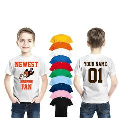 71f96887d Cleveland Browns Newest fan mickey shirt personalized jersey Funny Kids  Infant Kids Browns Fan Cleveland shirt mickey customized Browns NFL