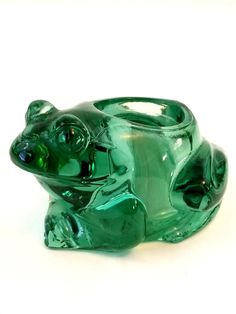 Indiana Glass Spanish Green Frog Votive Candle Holder for sale online Green Frog, Indiana Glass, Votive Candle Holders, Paper Weights, Piggy Bank, Spanish, Home And Garden, Candles, Ebay