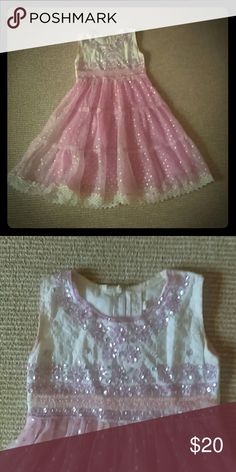 Pink flow dress w/blingy accents Lace trim and studs Dresses Formal