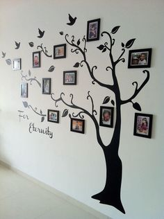 Family Tree Decor For Wall cute - i would make the trunk of the tree thicker to signify