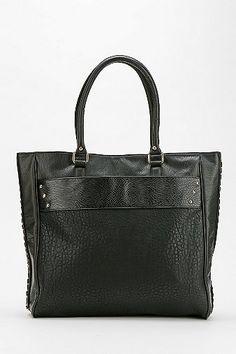 cbaea6c402475 Deux Lux Chain-Seam Vegan Leather Tote Bag