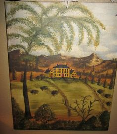 Hand painted Colonial Scenes.....