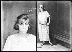 "Sydney Police Photographs 1912-1948 ... (cool mugshot, huh? Wonder who ""done her wrong?"")"