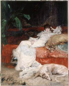 Giuseppe De Nittis portrait of Sarah Bernhardt