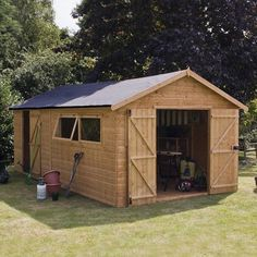 Large Garden Shed 20 x 10FT Premium Shiplap Storage Windows Double Doors Wooden