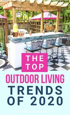 I love these 2020 outdoor living trends. Who knew that catios were such a big thing? I'm going to have to add one to my garden! | Home Decor Trends Outdoor Garden Rooms, Outdoor Decor, Porches, Outdoor Kitchen Bars, Outdoor Kitchens, Granny Pod, Backyard Cottage, Australian Garden, Patio Design