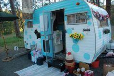Adorable vintage camper restoration